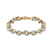 Bouman Goud Trends Bouman Trends 14 Karaats Bi-Color Gouden Armband met Zilveren Kern