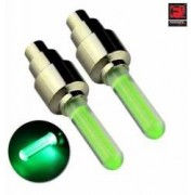 Set 2 capacele ventil LED Culoare Verde cu pornire automata