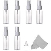 DIY Crafts Empty Plastic Small Travel Bottles With Fine Mist Sprayer with Cleaning Cloth and Dropper 30 ml(Pack of 12)