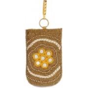 Utsavi UF-PP-10280-Golden Mobile Pouch(Gold)