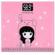 VDNSI Personal Electric Digital Body Weight Weighing Machine Scale For Kids and Adults Weighing Scale(Pink)