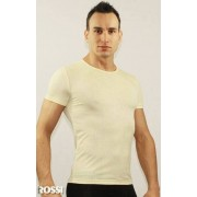 Romeo Rossi Модная футболка с сетчатой структурой желтого цвета ROMEO ROSSI R00509