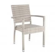 Set de 4 scaune cu brate ASTON gri deschis