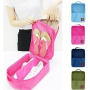 HOMEBASIC: Water Proof Shoe Storage Travel Tote Bag Multi-Purpose Portable Foldable Organizer HOT PINK