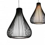 [lux.pro]® Lámpara de techo moderna negro metal look-industrial [1 x E27] longitud 160cm