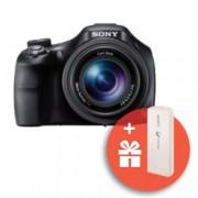 """Фотоапарат Sony Cyber Shot DSC-HX400V (черен) с подарък външна батерия Sony CP-V3(бяла), 50x оптично увеличение, 20.4 Mpix, 3.0"""" (7.62cm) TFT дисплей, Wi-Fi/NFC, SDHC/SDXC слот, micro USB, micro HDMI"""