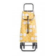 Rolser I-Max Symbol Convert ultra könnyű húzós bevásárlókocsi - sárga mintás