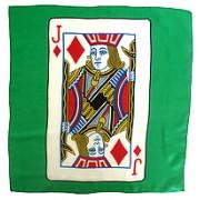 "Jack of Diamonds 18"" Card Silk."
