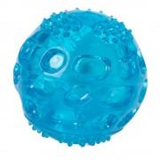Играчка за кучета LED топка от термопластична гума, Ø 6 см - синя