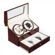 Klarstein Geneva, подвижна стойка за часовник, 4 часовника, 4 режима, чекмедже (WW1-Geneva-B)