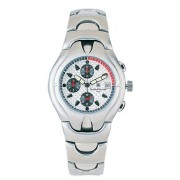 Smith & Wesson White Dial Chrono SS Case & Band Watch SWW-01-SLV