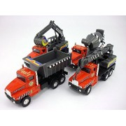 5 inch Construction Vehicle Set of 4 : Excavator