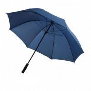 Umbrela 30 inch, rezistenta la intemperii, Everestus, DE, poliester 190T, fibra de sticla, albastru, saculet de calatorie inclus