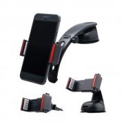 Shop4 - Samsung Galaxy S9 Plus Autohouder 3 in 1 Dashboard en Ventilatiehouder Zwart