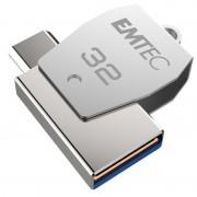 Emtec T250C OTG USB 2.0 / Type-C Flash Drive - ECMMD32GT252C - 32GB