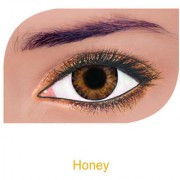 FreshLook Colorblends Power Contact lens Pack Of 2 With Affable Free Lens Case And affable Contact Lens Spoon (-8.00Honey)