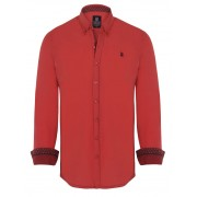 Giorgio Di Mare Worked Long Sleeved Shirt Red GI1752799