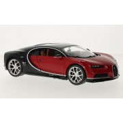 Bburago 1:18 Bburago Bugatti Chiron Red Diecast Model Roadster Car Vehicle New in Box by Bburago