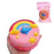 Rainbow Dolphin Cake Squishy Toy 12cm Slow Rising With Packaging Collection Gift