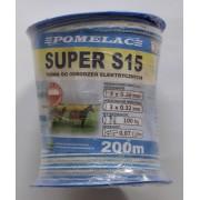 Taśma Super S15 b- niebieska 15 mm/200m