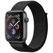 Smartwatch Apple Watch 4, 40mm, LTPO OLED Retina Display, GPS, Bluetooth, Wi-Fi, Bratara Sport Loop Neagra, Carcasa aluminiu, Rezistent la apa si praf (Space Gray)