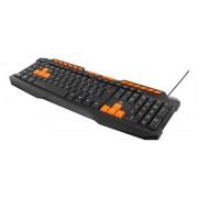 Deltaco gaming tangentbord anti-ghosting USB nordisk layout svart-orange
