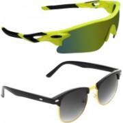 Zyaden Sports, Clubmaster Sunglasses(Multicolor, Black)