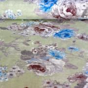 Peonia, krém levélmintás lakástextil, dekorvászon