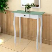 vidaXL Masă Stil Rustic Alb și Gri/verde Maro