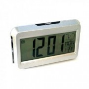 Ceas Digital 2616 cu display LCD si control vocal functie termometru Alb-Negru