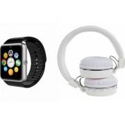 Zemini GT08 Smart Watch and SH 10 Bluetooth Headphone for LG OPTIMUS L3 II DUAL(GT08 Smart Watch with 4G sim card camera memory card |SH 10 Bluetooth Headphone )