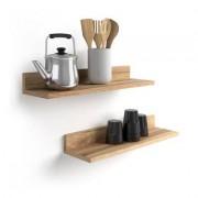 Mobili Fiver Par de estantes, modelo Rachele, de MDF, 60 cm, color Madera Rustica