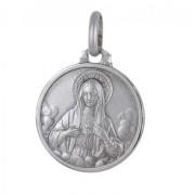medaglia cuor di maria in argento