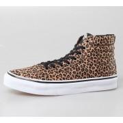 magasszárú cipő női - U Sk8-Hi Slim -LEOPARD- - VANS - HERRINGBONE