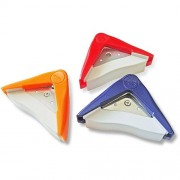 Photo-Max Hand-Held Corner Cutter, 5 mm/10 mm/Scallop Round Corners, Red/Orange/Blue, Pack of 3 (PP-64-B)