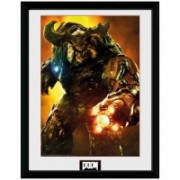 Doom Framed Poster Cyber Demon - 45 x 34 cm