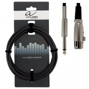 Cablu microfon Alpha Audio XLR Mama - Jack 6.3 3M 190060