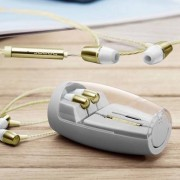 Huawei Auricolare Originale A Filo Stereo In-Ear Power Bass Am12 Jack 3,5mm Gold Per Modelli A Marchio