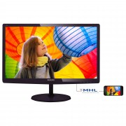 Philips 23.6 IPS-ADS LCD monitor, 1920 x 1080, 5ms GtG, 250 cd/m?, 20 000 000:1, SmartImage Lite, VGA/ DVI-D/ MHL-HDMI Black Cherry