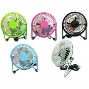 Mini Angle Adjustable Metal USB Fan PC / Laptop USB Cooler Cooling Desk Fan