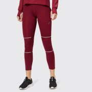 Asics Women's Lite-Show 7/8 Tights - Cordovan - S - Red