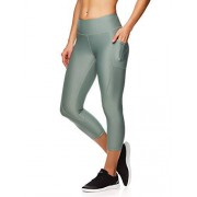 Reebok Leggings Capri Estampados para Mujer con Cintura Media, Verde (Chinois Green), XS
