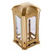Lantaarn Luxe Design vierkant glimmend goud (L-01m1)