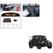 Auto Addict Car White Reverse Parking Sensor With LED Display For Mahindra Thar
