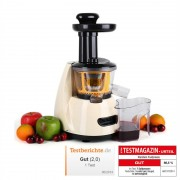 Klarstein Fruitpresso Slow juicer frullatore 70 U/min crema