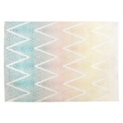 Tapis design 'ZAG' 160/230 cm motifs zigzags multicolores