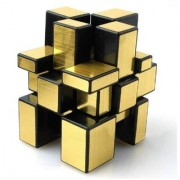 Puzzle High Speed Mirror Golden Cube 3X3X3 a Perfect Educational Toy - Auggmin