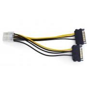 PCIe VGA tapkabel atalakito 8 pin (2 SATA-rol) Gembird CC-PSU-83