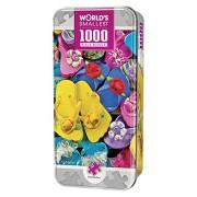 MasterPieces World's Smallest Flippity Flops - Flip Flops 1000 Piece Tin Box Jigsaw Puzzle by Carole Gordon
