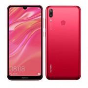 """Huawei Y7 2019 Dub-LX3 (32 GB, 3 GB) Dual SIM 6.26"""" Dewdrop Display 4G LTE Octa Core 16 MP cámara frontal cara desbloqueo 2.0 teléfono inteligente desbloqueado de fábrica (versión internacional), Rojo"""